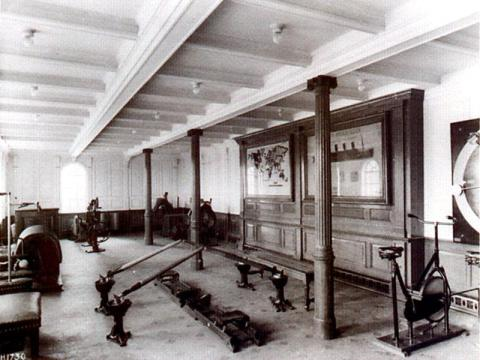 The Titanic's gym
