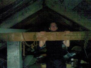 Pull-ups on a roof beam