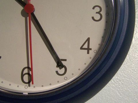 Close up of a clock's face