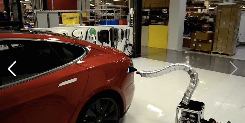 Tesla Snake Charger Gets Real