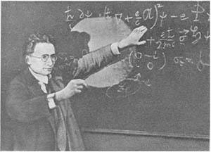 Бронштейн читает лекцию по квантовой механике
