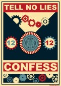 Doctor Who poster CONFESS by Ewan McGee