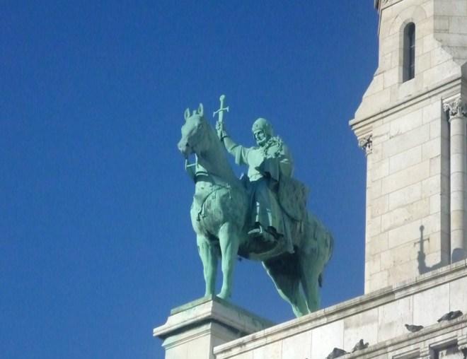 Statua Ludwika IX - Bazylika Sacre Coeur w Paryżu