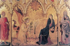 Simone Martini - Zwiastowanie
