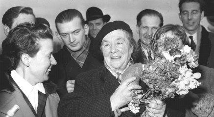 Powitanie Zofii Kossak w Polsce po powrocie z Anglii 1957
