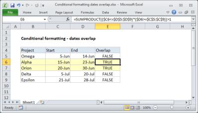 Conditional Formatting Formulas   Exceljet