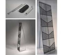 Netted Leaflet Stand