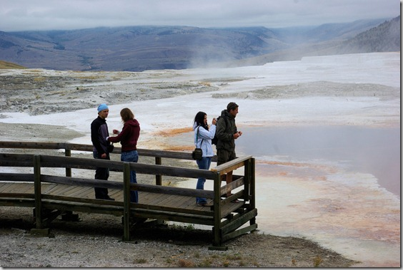 Canary Spring, Mammoth Hot Springs, Yellowstone National Park, Wyoming, September 13, 2007