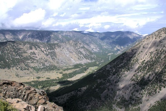 View from Rock Creek Vista Point, Beartooth Highway, which travels the Absaroka Range in Wyoming and Montana, August 14, 2014