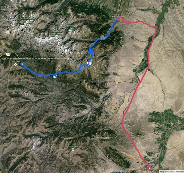 Cody, Wyoming to Fox Creek Campground via Red Lodge Montana and the Beartooth Highway