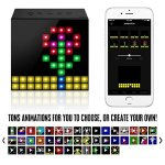DIVOOM AURABOX Bluetooth 4.0 SMART LED Speaker with APP Control for Pixel Art Creation and Animation and Social Media Notification