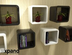 Small Of Cube Wall Shelves