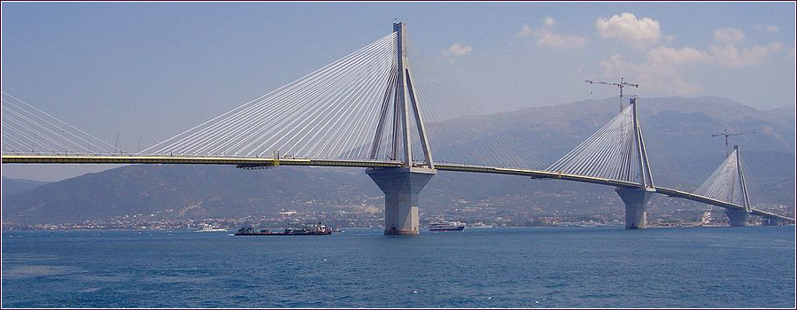 rio antirio bridge, monniaux, greece