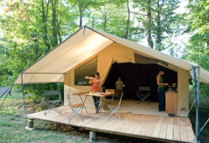 Luxury in a wood and canvas tent