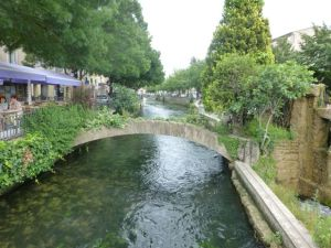 The canals in L'Isle-sur-la-Sorgue