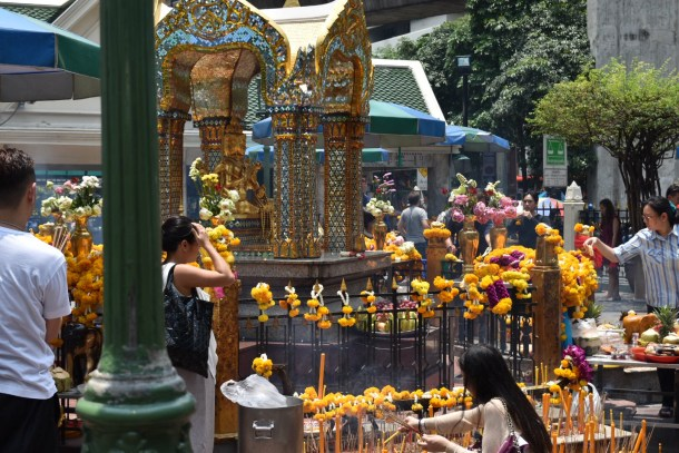 I passed by the famous Erawan shrine on my way to CentralWorld