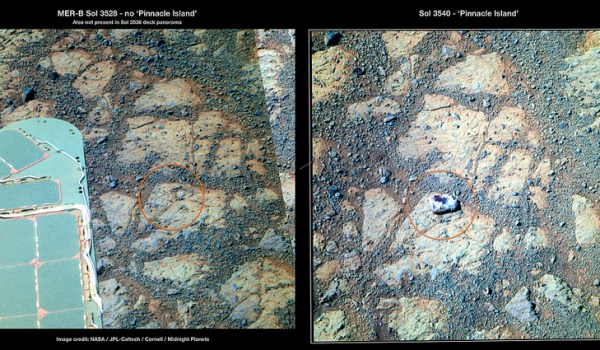 Misteriosa roca en Marte