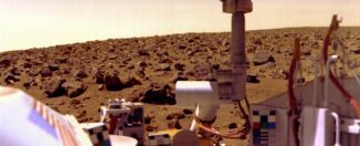 Fotografía tomada por el Explorador Viking en Marte (1976). Crédito: NASA