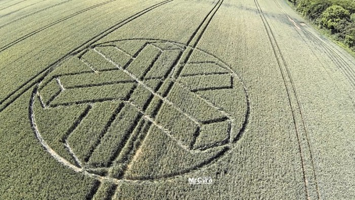 Crop Circle reportado en Sussex, UK. 22 de junio (2015).