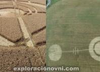Crop circles sorprenden a residentes en ciudades de Inglaterra y Rusia.