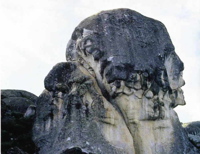 Estructura en la roca con forma de rostro. Marcahuasi.
