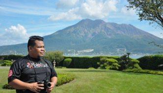 Kyushu Muslim Trip – Day 1 – Pemandangan Cantik Gunung Berapi Sakurajima, Masjid Kagoshima, Hotel Ibusuki Iwasaki dan Sand Bath