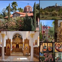 Daily Snapshots: A Monastery Tour and Lunch in a Garden in Arizona