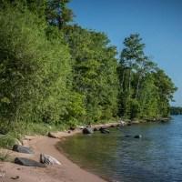Along the Beach on Rocky Island, Apostle Islands, Wisconsin
