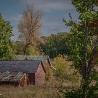 A Trio of Barns: View from the Goose Creek Rest Area in Minnesota