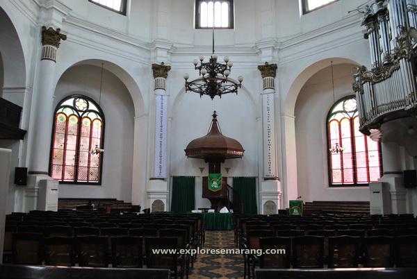 Interior gereja blenduk explore semarang