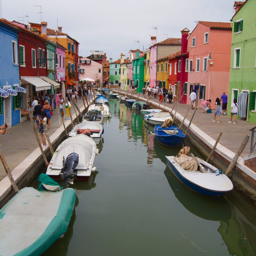 Burano coloured village
