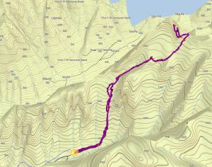 GPS Route and Map to Peak 5800