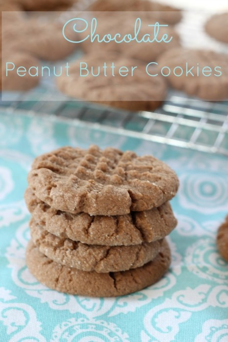 Chocolate Peanut Butter Cookies | Mom vs The Boys
