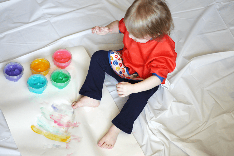 Bella Homemade Toddler Finger Paint