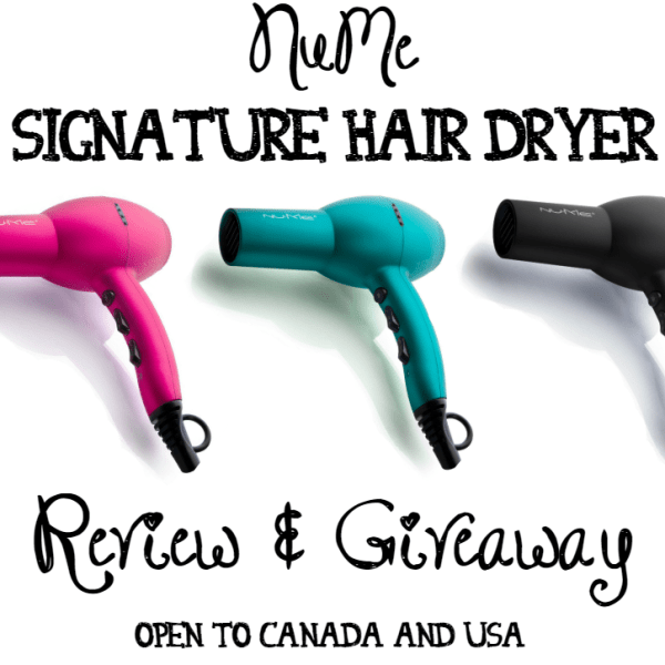 NuMe Signature Hair Dryer Review & Giveaway