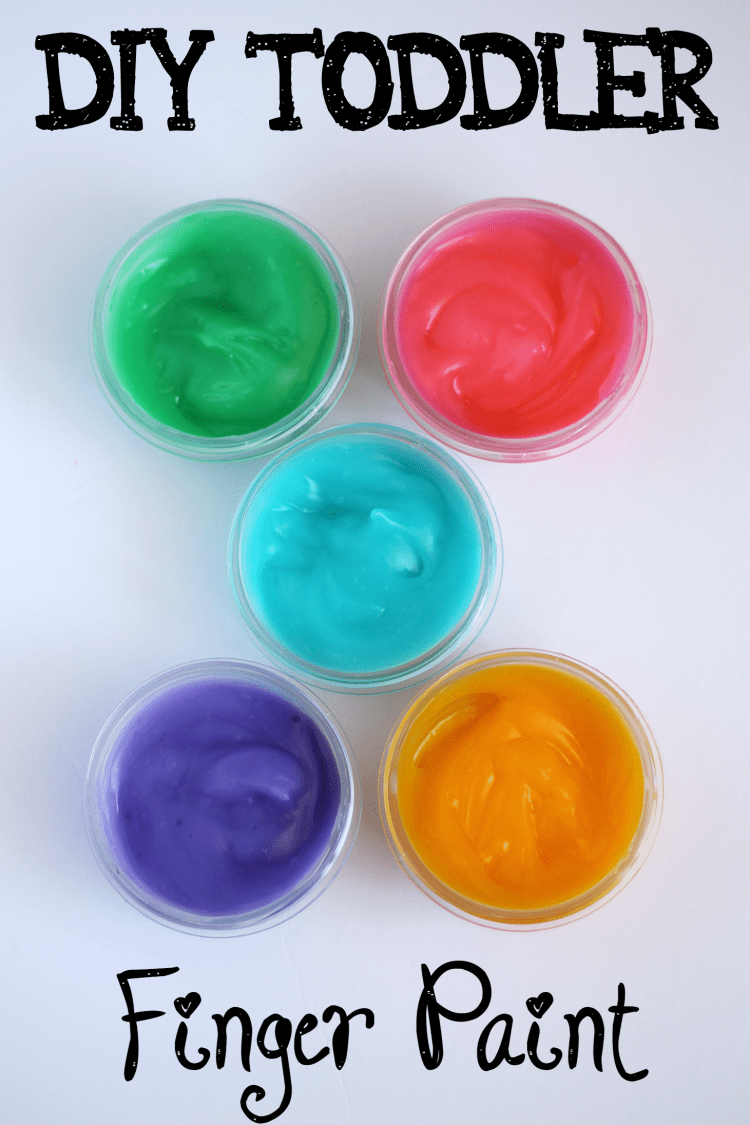 Homemade Toddler Finger Paint