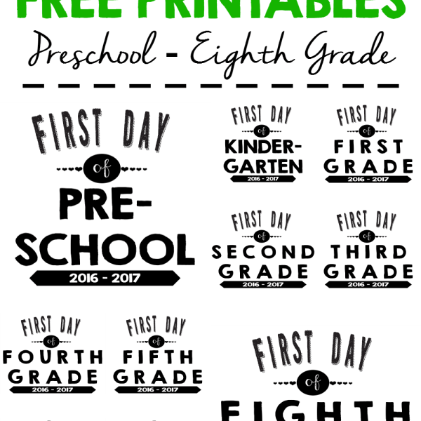 FREE Back To School Printable Signs #BackToSchool