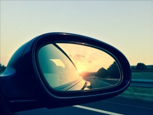driving long distance rear view mirror