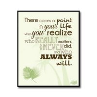Friends Quote Poster - There Comes A Point In Life //