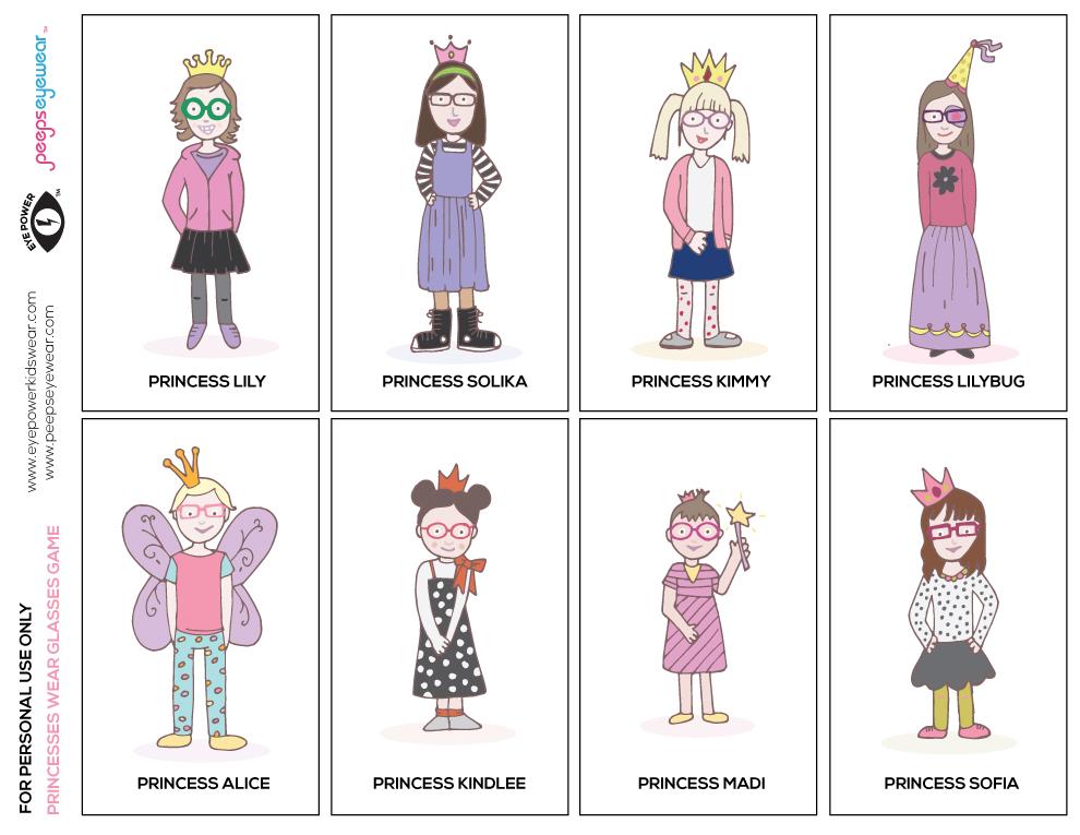 Princess-matching-game
