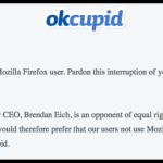 OkCupid is Blocking Firefox Users Because Firefox President Is Anti-Gay