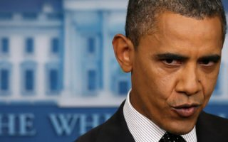 President Obama Answers Questions During Daily White House Press Briefing