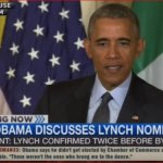 President Obama is Frustrated Over Republicans' Holdup of Loretta Lynch – Video