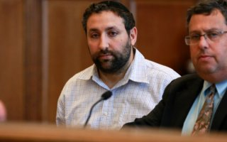 May 22,  2015 - Brooklyn, NY: Joseph Hayon, a Brooklyn politician running for a city council seat, is arraigned at Brooklyn Criminal Court for possession of child pornography.