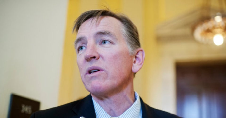 UNITED STATES - NOVEMBER 14: Rep. Paul Gosar, R-Ariz., talks with reporters outside a meeting of House Republican Steering Committee meeting in Cannon Building, November 14, 2014. (Photo By Tom Williams/CQ Roll Call)