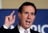 Republican presidential candidate, former Pennsylvania Sen. Rick Santorum speaks during his election night party, Tuesday, March 13, 2012, in Lafayette, La.  (AP Photo/Eric Gay)
