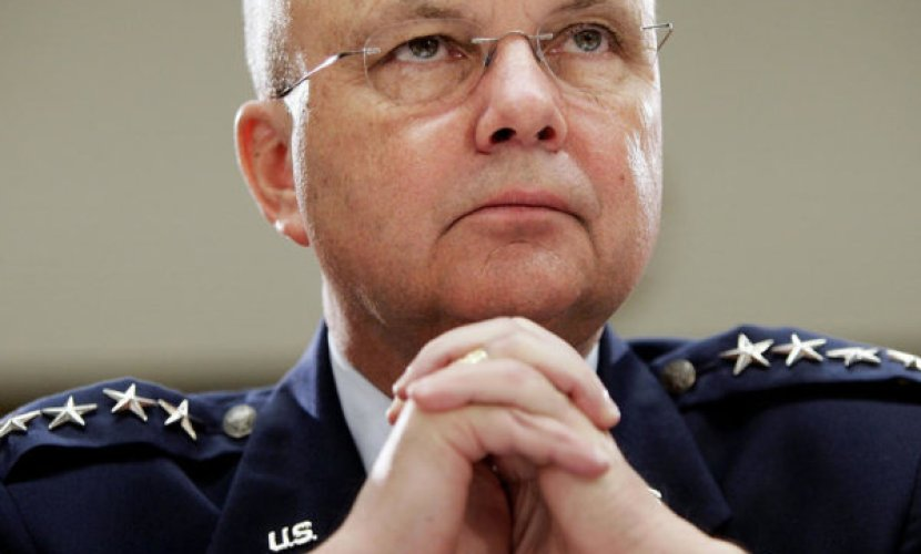 "WASHINGTON - JANUARY 18:  Central Intelligence Agency Director Michael Hayden listens to questioning during a hearing before the House Intelligence Committee January 18, 2007 on Capitol Hill in Washington, DC. The topic of the hearing was the ""Current Assessment of Threats to U.S. National Security.""  (Photo by Win McNamee/Getty Images)"