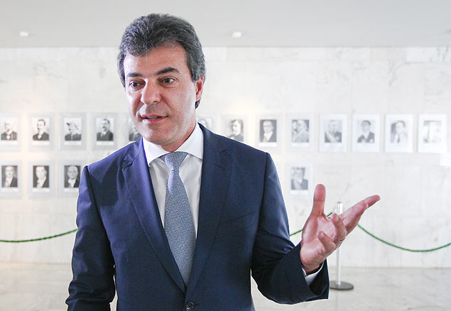 O governador do Paraná, Beto Richa, antes da reunião no Palácio do Planalto, em Brasília