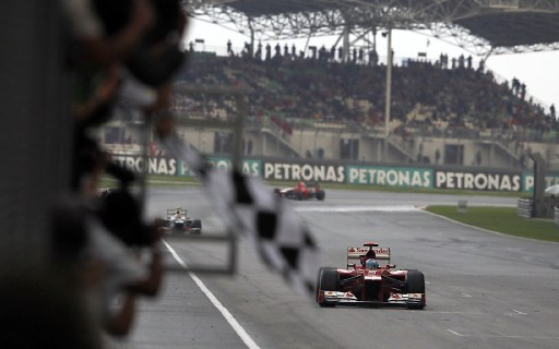 Alonso—Malaysia 2012 finish
