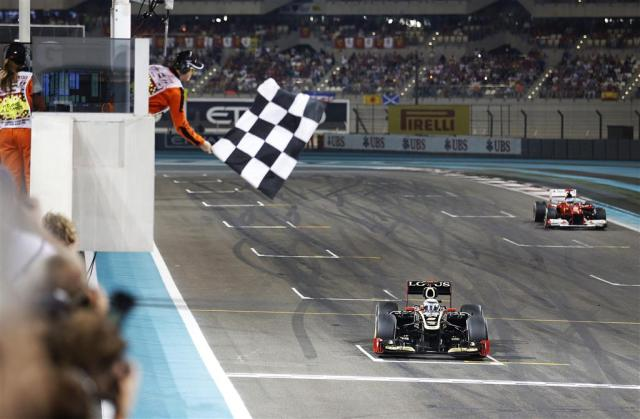 Raikkonen—Abu Dhabi 2012 flag